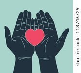 hand giving love symbol | Shutterstock .eps vector #113746729