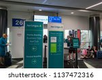 Small photo of Los Angeles, JUN 29: Gate of Aer Lingus airline of the terminal 2, LAX on JUN 29, 2018 at Los Angeles, California