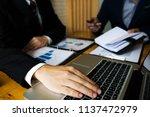 businessmen present business... | Shutterstock . vector #1137472979