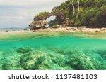 natural bridge at neil island ...   Shutterstock . vector #1137481103