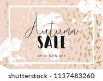 autumn collection trendy chic... | Shutterstock .eps vector #1137483260