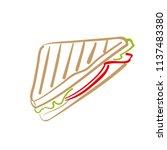 sandwich draw icon | Shutterstock .eps vector #1137483380