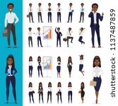 vector black african american... | Shutterstock .eps vector #1137487859