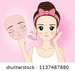 vector modern flat style... | Shutterstock .eps vector #1137487880