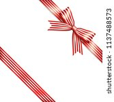 red and white lines isolated... | Shutterstock .eps vector #1137488573