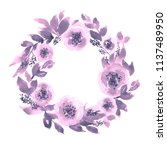 colorful watercolor loose... | Shutterstock . vector #1137489950