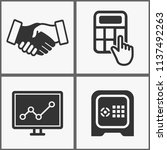 vector investments money icons...   Shutterstock .eps vector #1137492263