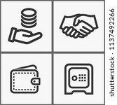 vector investments money icons...   Shutterstock .eps vector #1137492266