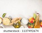 fermented food  probiotic... | Shutterstock . vector #1137492674