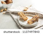 plate with different homemade... | Shutterstock . vector #1137497843