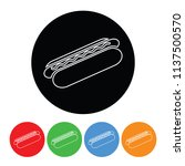 hot dog icon in a modern thin... | Shutterstock .eps vector #1137500570