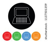 laptop icon in a modern thin... | Shutterstock .eps vector #1137501359