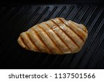 grilled chicken breast on grill ... | Shutterstock . vector #1137501566