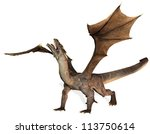 Rendering Of A Roaring Dragon