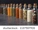 glass bottles with different...   Shutterstock . vector #1137507920