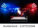 boxing ring arena vs letters... | Shutterstock .eps vector #1137513368