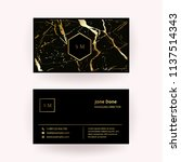 luxury business card with... | Shutterstock .eps vector #1137514343
