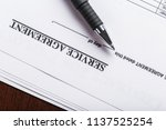 lease or rental agreement... | Shutterstock . vector #1137525254
