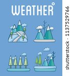 set of weather icons | Shutterstock .eps vector #1137529766