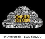 computer education word cloud... | Shutterstock .eps vector #1137530270