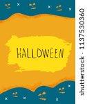 halloween poster.  template for ... | Shutterstock .eps vector #1137530360