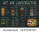 hot dog ingredients constructor.... | Shutterstock .eps vector #1137539729