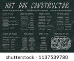 hot dog ingredients constructor.... | Shutterstock .eps vector #1137539780