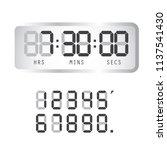 timer clock. digital time clock.... | Shutterstock .eps vector #1137541430