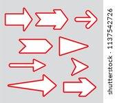 arrows elegant free style...   Shutterstock .eps vector #1137542726