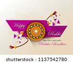 happy raksha bandhan indian... | Shutterstock .eps vector #1137542780