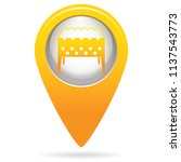 camping brazier icon. vector... | Shutterstock .eps vector #1137543773