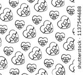 grunge beauty heart with ribbon ...   Shutterstock .eps vector #1137544688