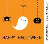 hanging smiling sad black... | Shutterstock .eps vector #1137545270