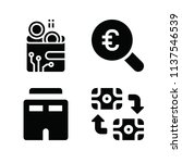 filled set of 4 business icons... | Shutterstock . vector #1137546539