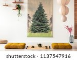 real photo of a tatami mat with ... | Shutterstock . vector #1137547916