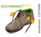 Eco Friendly Shoes. Concept....