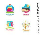 preschool logo design.... | Shutterstock .eps vector #1137556073