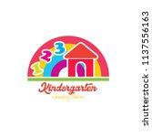 preschool logo design....   Shutterstock .eps vector #1137556163