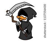 cartoon grim reaper duck   Shutterstock .eps vector #1137556430