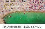 aerial view from flying drone... | Shutterstock . vector #1137557420