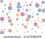 crystal snowflake and circle... | Shutterstock .eps vector #1137558359