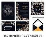 wedding invitation   save the... | Shutterstock .eps vector #1137560579