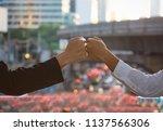 engineer business man of... | Shutterstock . vector #1137566306