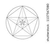 pentagram. pentagonal star.... | Shutterstock .eps vector #1137567080