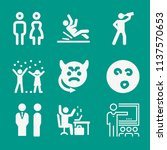 people related set of 9 icons... | Shutterstock . vector #1137570653