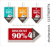 colorful price tags in the form ... | Shutterstock .eps vector #1137583976