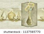 Flower Vase In Frame Art