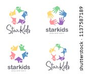 children icons set. vector logo ... | Shutterstock .eps vector #1137587189