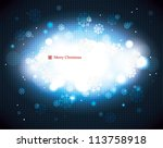 abstract snowflake background | Shutterstock .eps vector #113758918