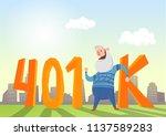 401k pension account ... | Shutterstock .eps vector #1137589283